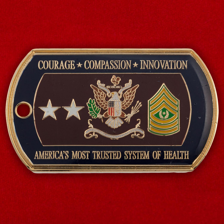 Челлендж коин Западного регионального медицинского командования ВС США