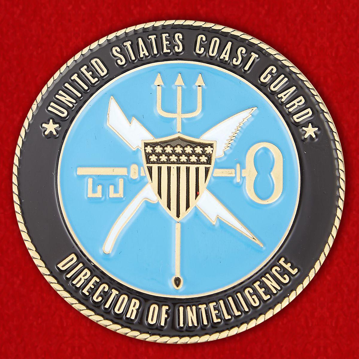 Челлендж коин Директора разведки Береговой охраны США