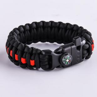 Купить чёрный плетёный браслет