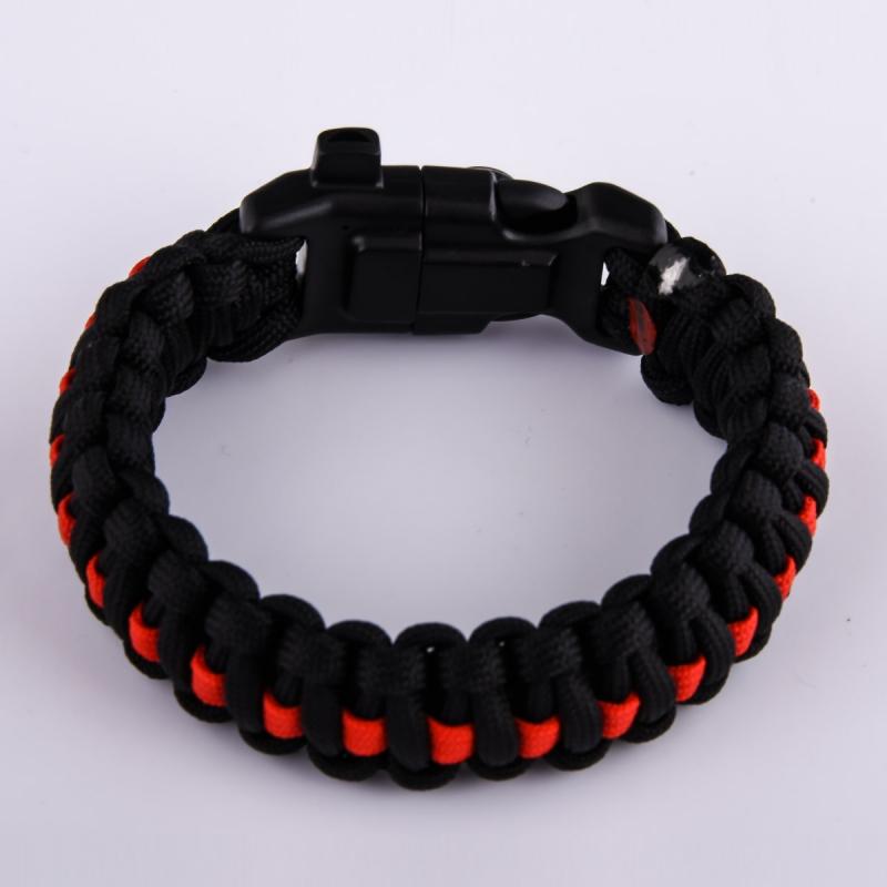 Чёрный плетёный браслет от Военпро с доставкой