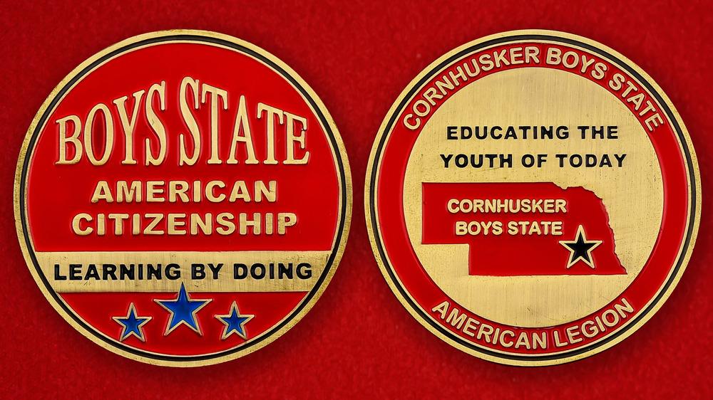 Cornhusker Boys State American Legion Challenge Coin