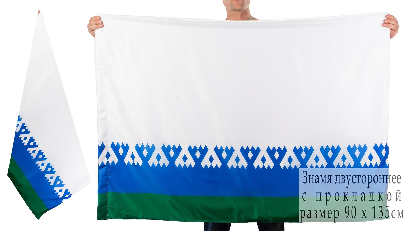 Двухсторонний флаг Ненецкого автономного округа