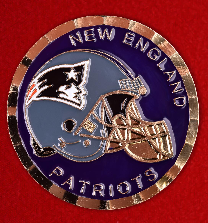 """Эмблема американского футбольного клуба """"New England Patriots"""""""