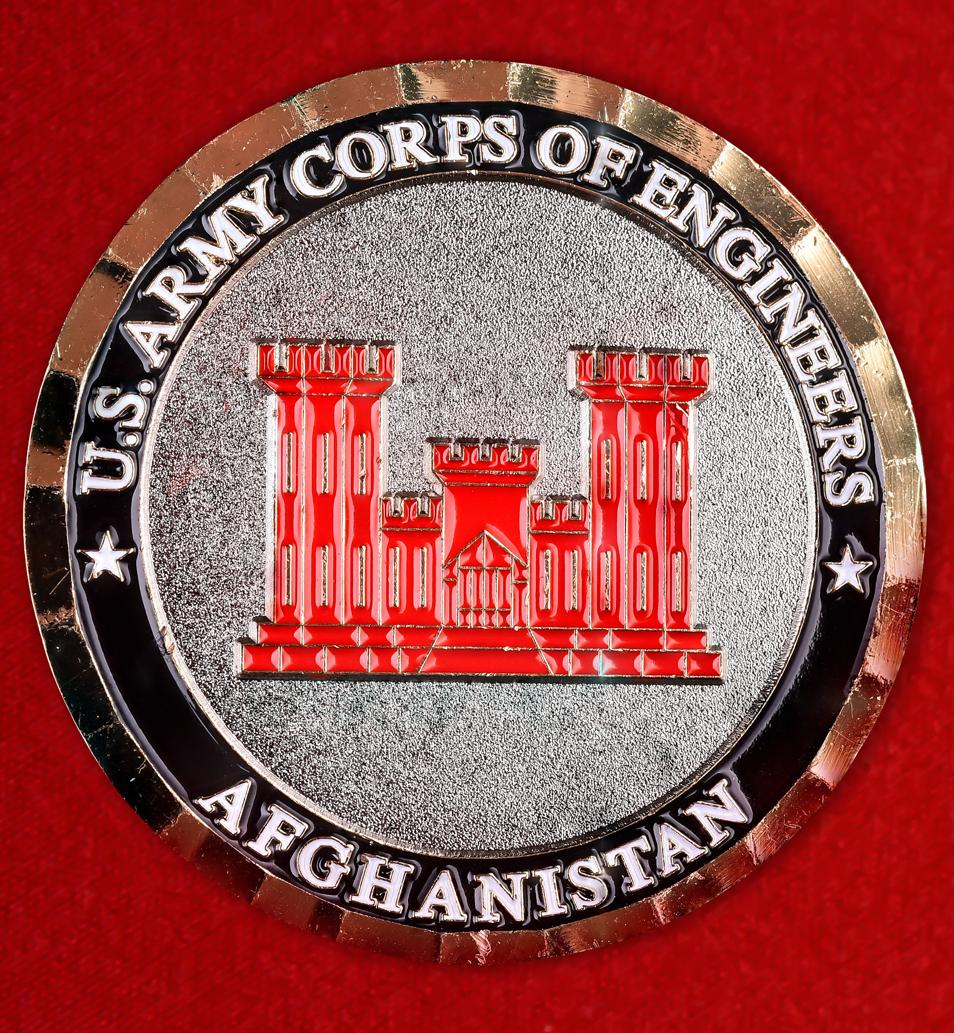 """Эмблема армии США """"Корпус инженерных войск в Афганистане"""""""