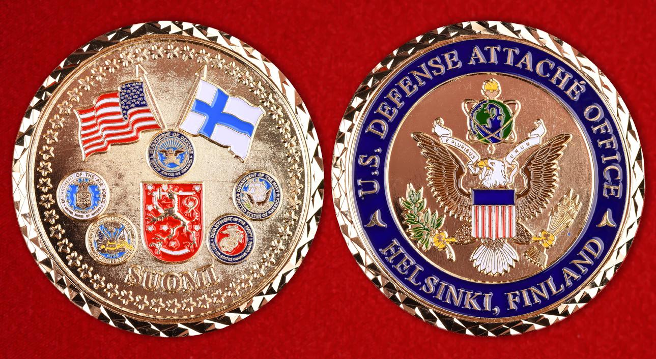 Эмблема военного атташе США в Финляндии