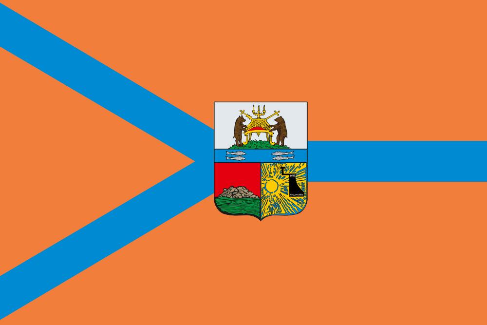 Флаг Череповца с гербом