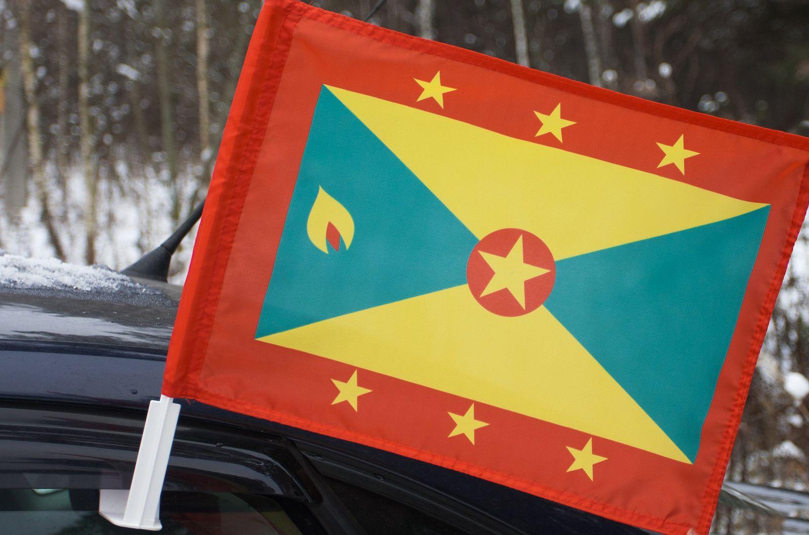 Флаг Гренады на машину