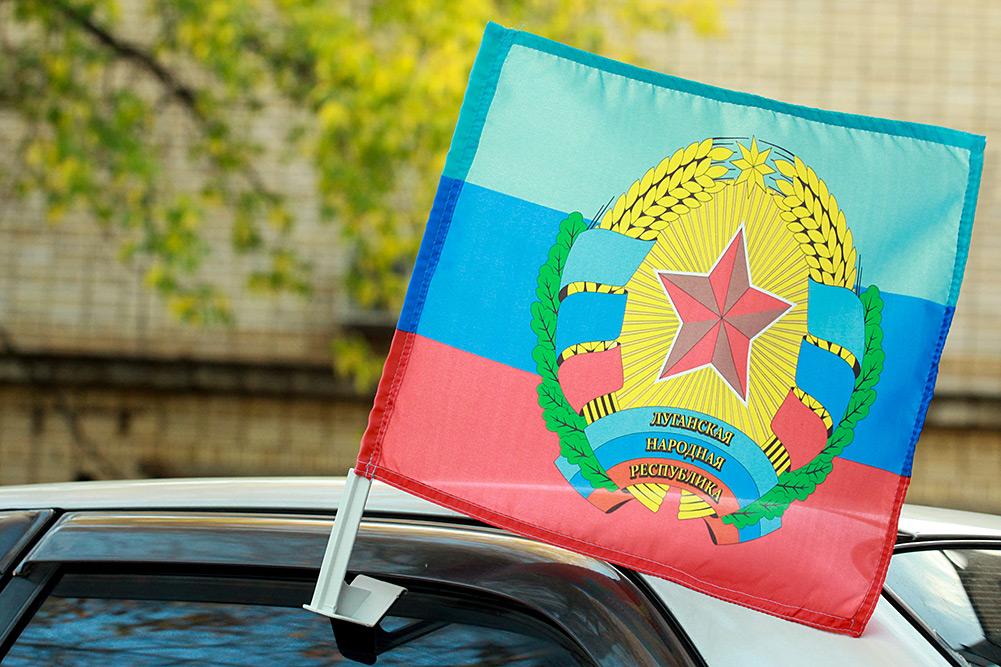 """Флаг """"Луганская Республика"""" на машину"""