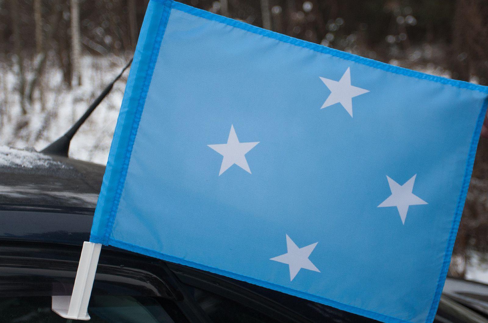 Флаг Микронезии на машину