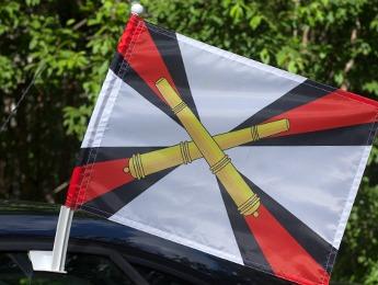 Флаг на машину с кронштейном «РВиА»