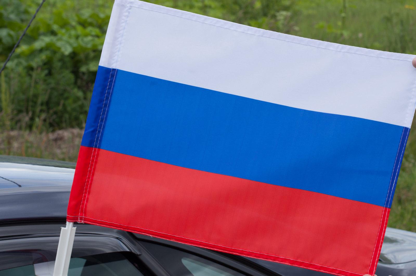 Флаг РФ на машину с кронштейном