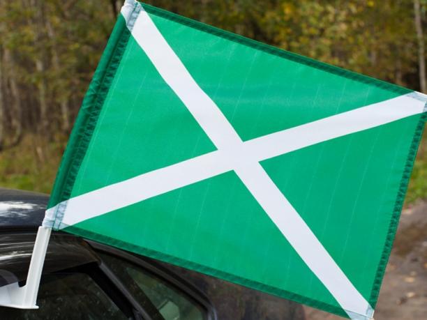 Флаг на машину с кронштейном Таможни «ФТС России»