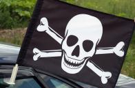 Флаг «Веселый Роджер с костями»