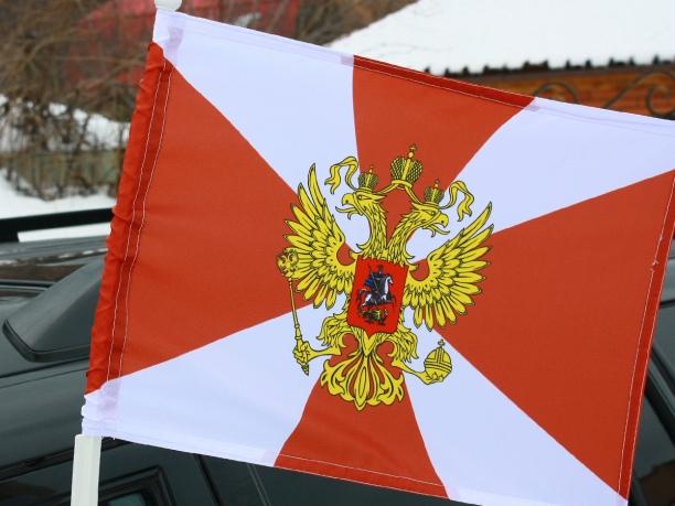 Флаг «Внутренние войска» на машину с кронштейном