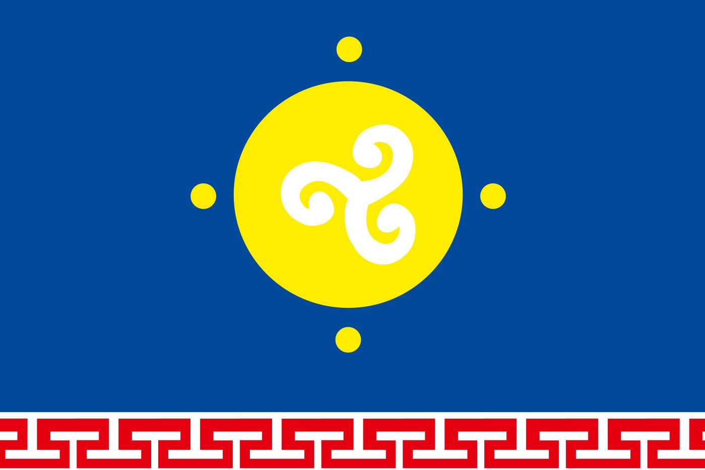 Флаг Усть-Ордынского Бурятского округа