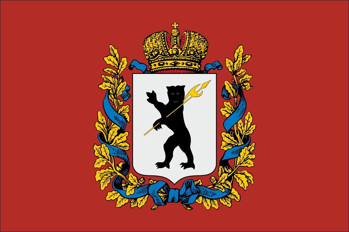 Флаг Ярославской губернии