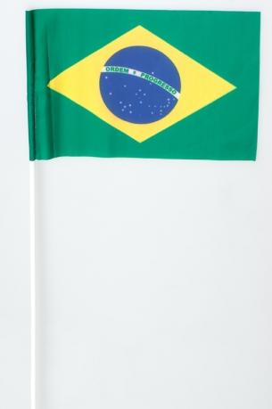 Флажок на палочке «Флаг Бразилии»