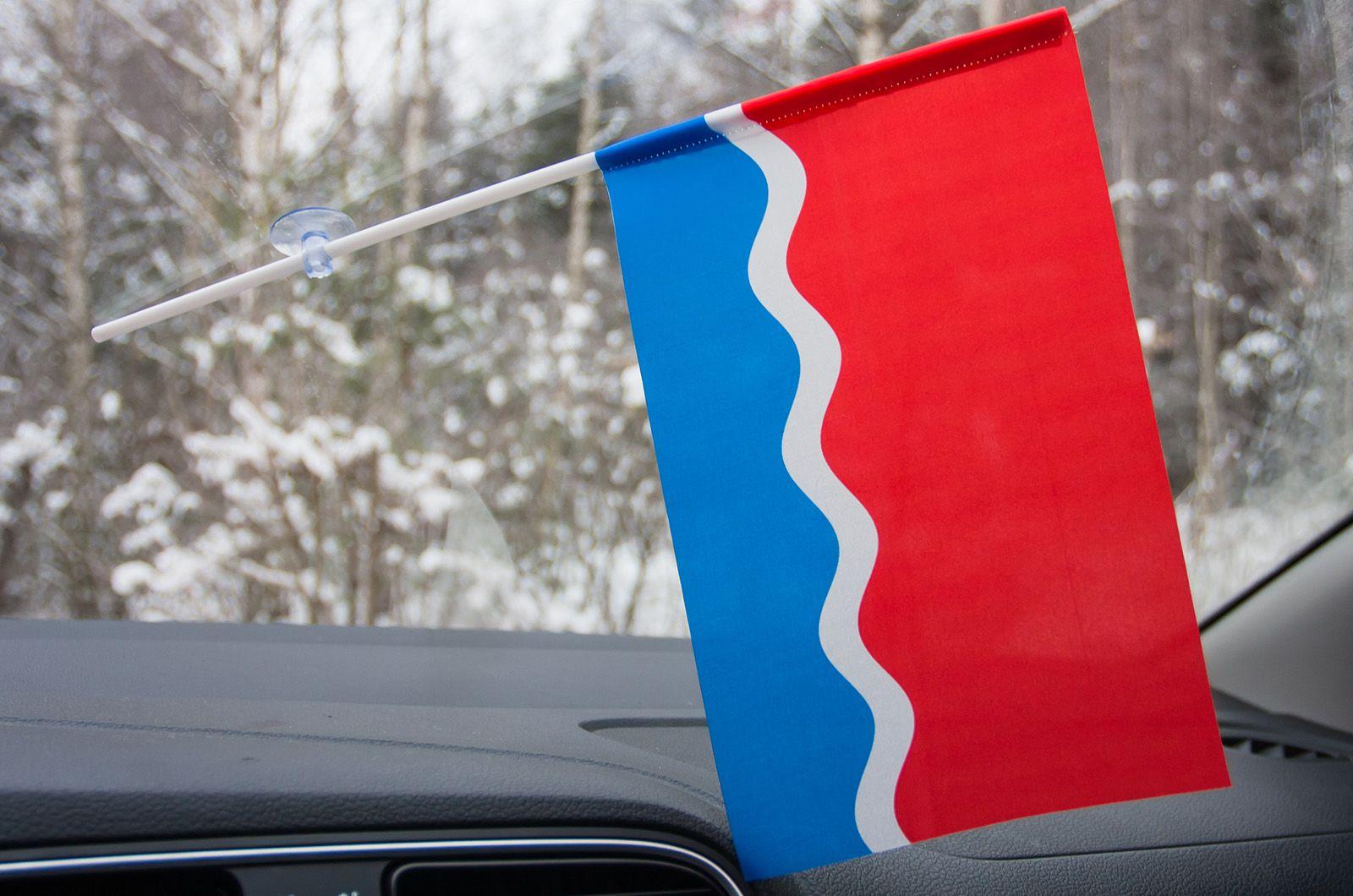Флажок Амурской области в машину