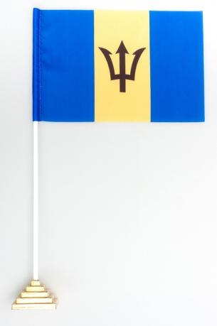 Флажок Барбадоса настольный с подставкой