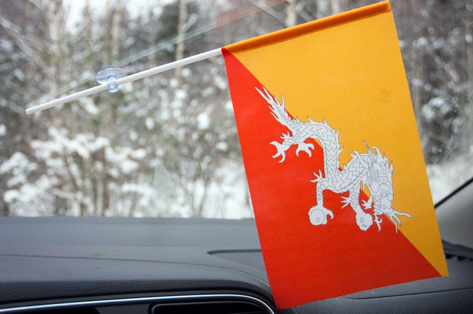 Флажок Бутана на присоске