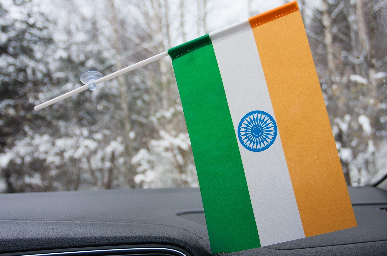 Флажок Индии в машину