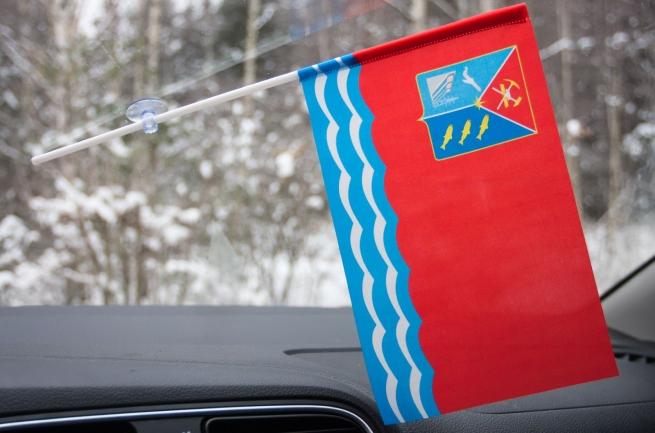 Флажок Магаданской области с присоской
