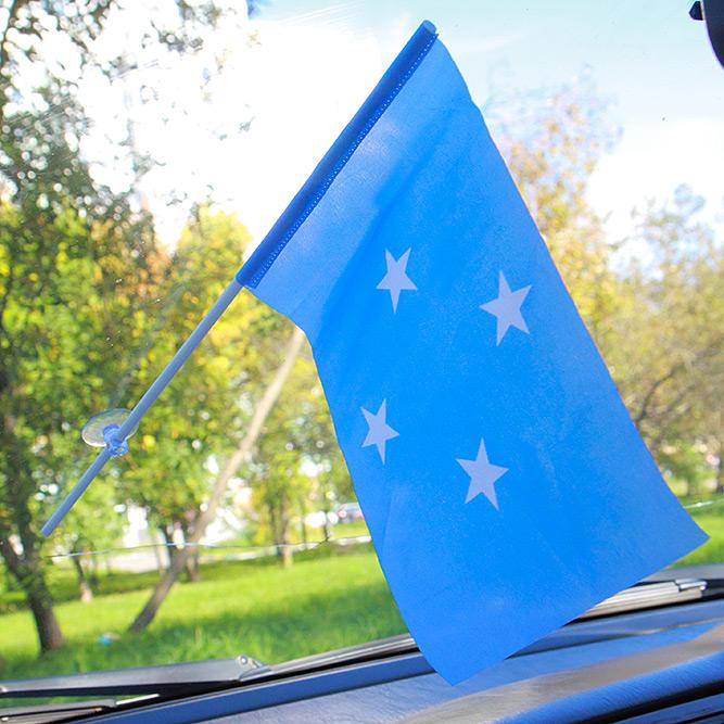 Флажок Микронезии с присоской