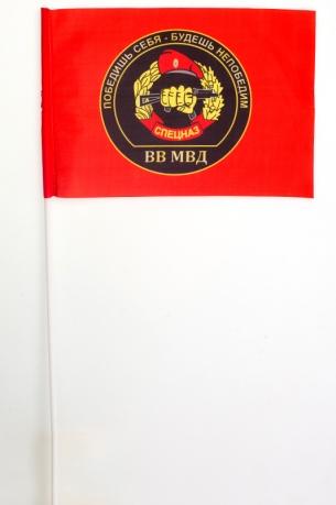 Флажок на палочке «Флаг Спецназа ВВ с девизом»