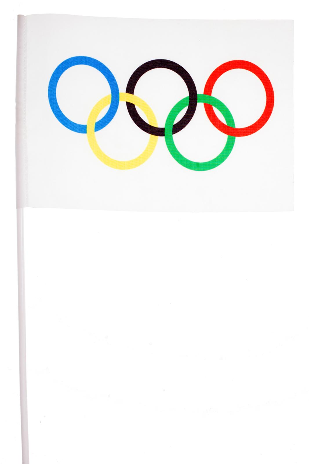Флажок на палочке «Олимпийская эмблема»