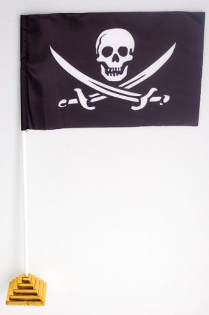 Флажок настольный Пиратский «с саблями»