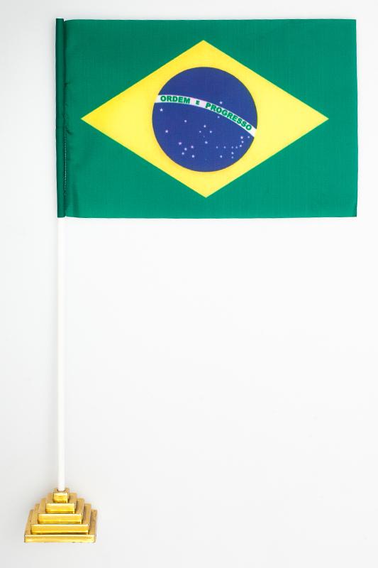 Флажок настольный Бразилия