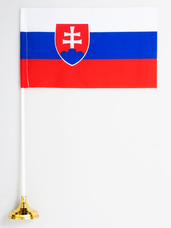 Флажок настольный «Флаг Словакии» по акции