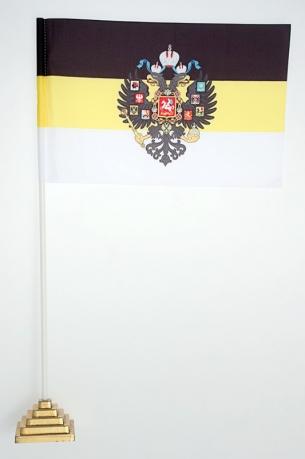 Флажок настольный Имперский с гербом