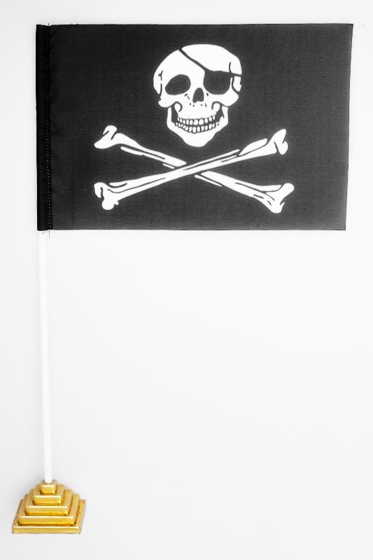 Флажок настольный Пиратский «С повязкой»