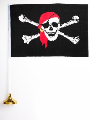 Флажок настольный Пиратский