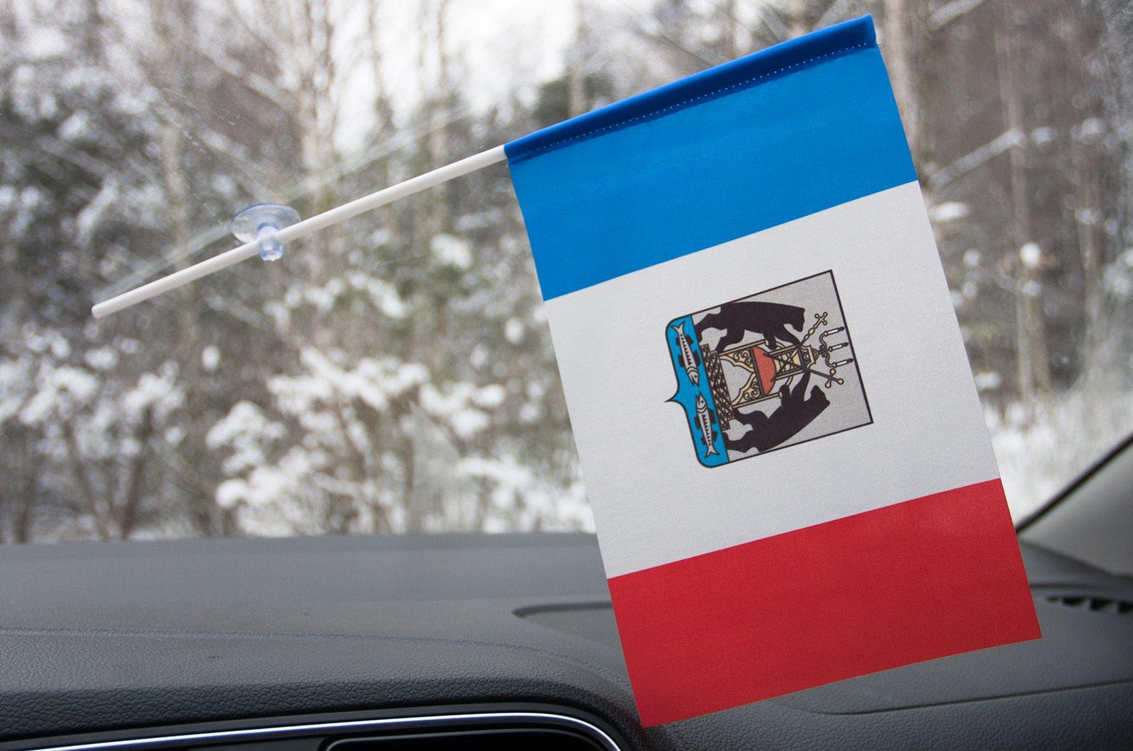 Флажок Новгородской области в машину