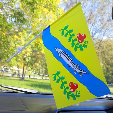 Флажок Нюксенского района в машину