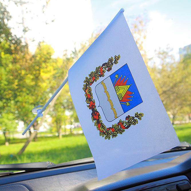 Флажок Омска с присоской