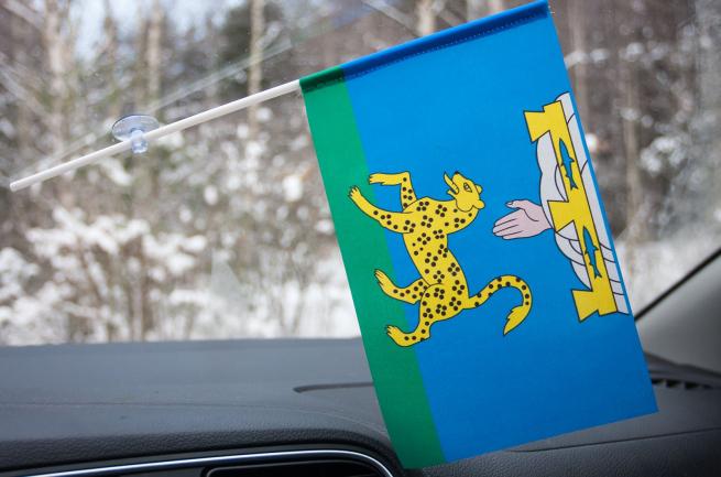 Флажок Псковского района в машину