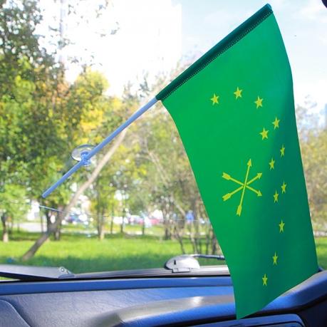 Флажок Республики Адыгея в машину