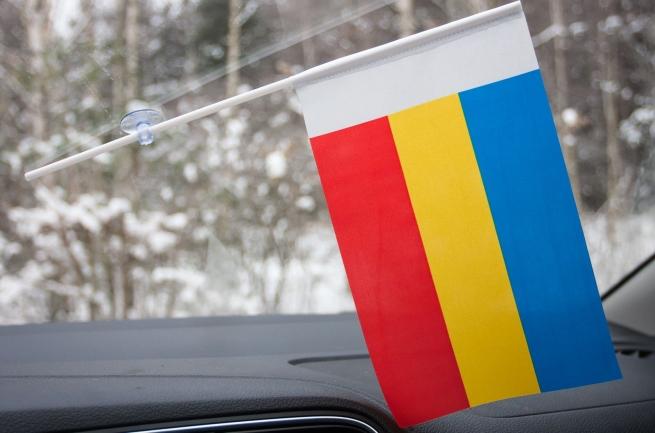 Флажок Ростовской области с присоской
