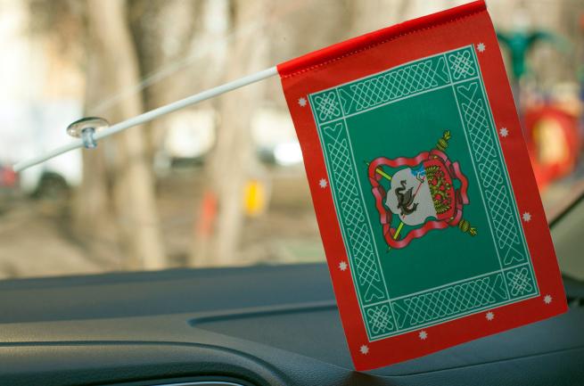 Флажок с присоской «Знамя Енисейского Казачьего войска»