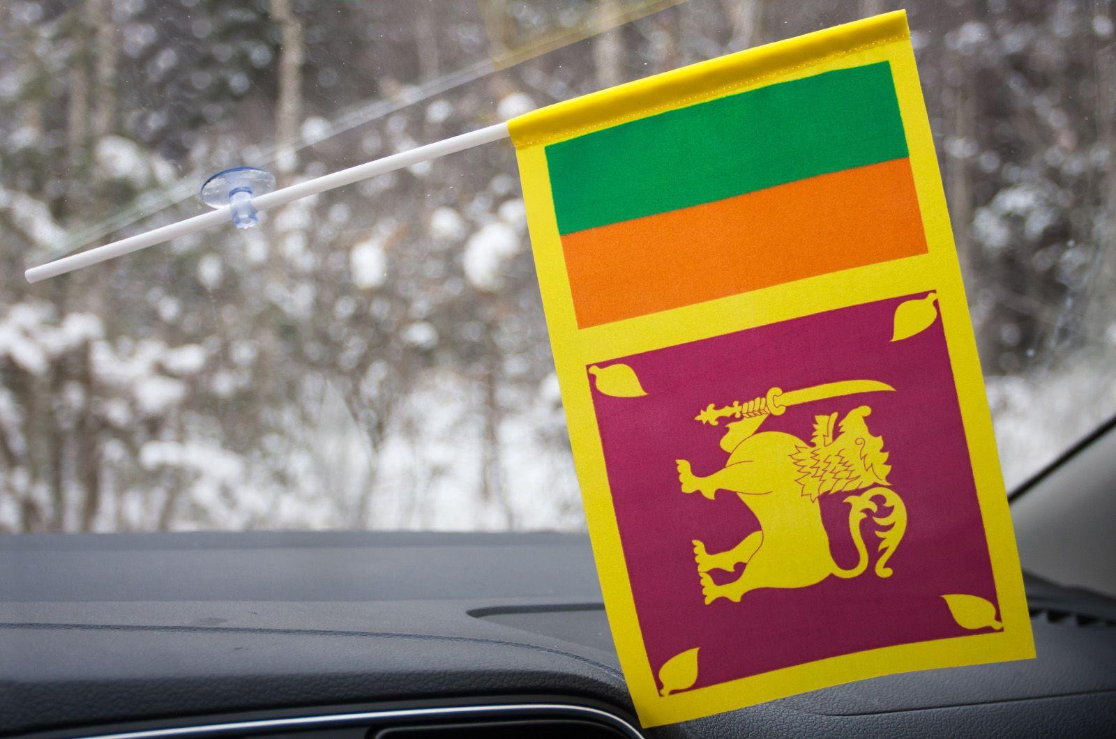 Флажок Шри-Ланки с присоской
