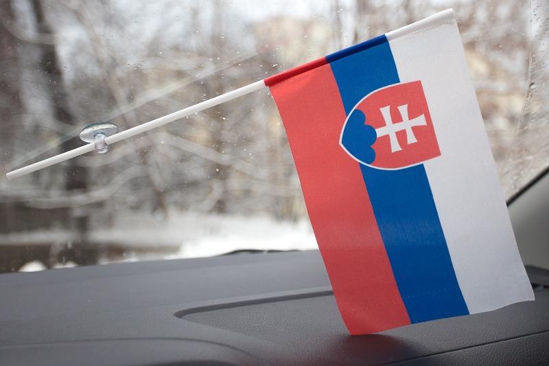 Флажок Словакии в машину с присоской по акции