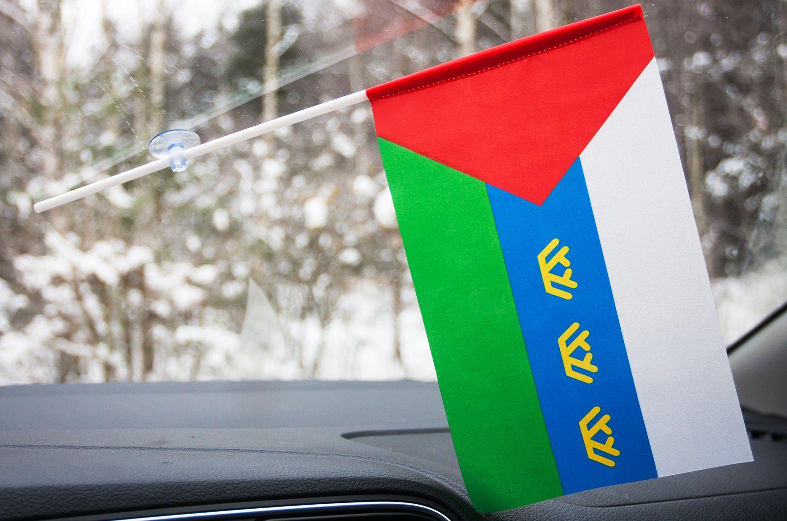 Флажок Тюменской области в авто