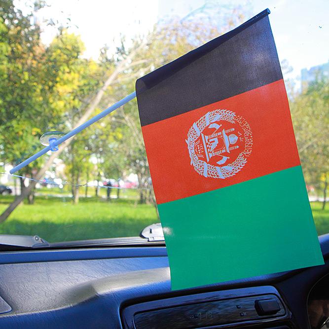 Флажок Афганистана в машину
