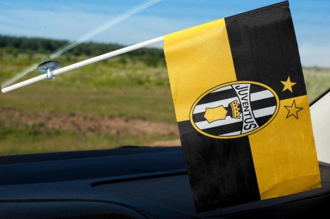 Флажок в машину «FC Juventus» (Ювентус)