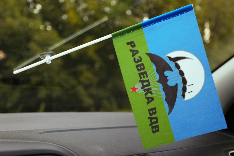 Двухсторонний флаг «Разведка ВДВ»