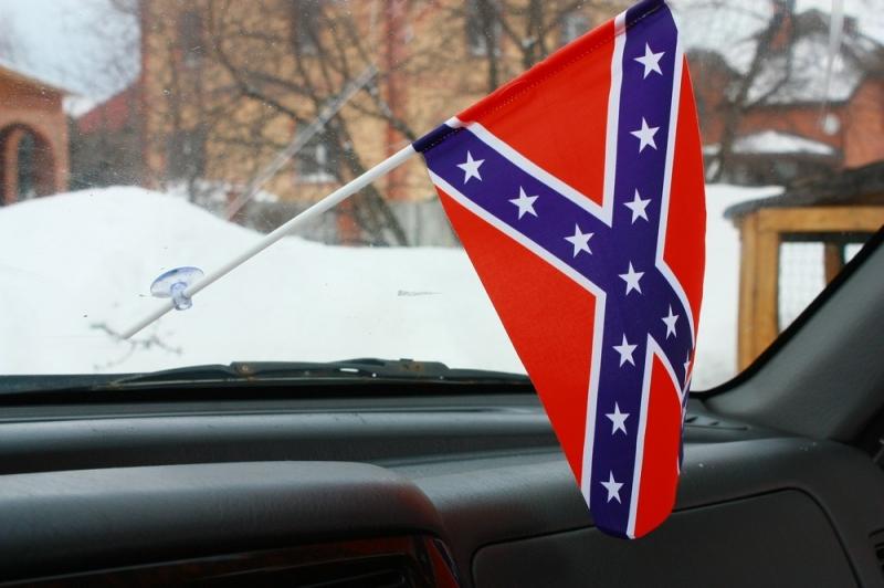 Флажок в машину с присоской Конфедирация