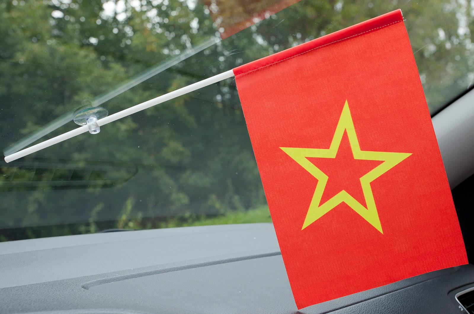 Флажок в машину с присоской Красной армии